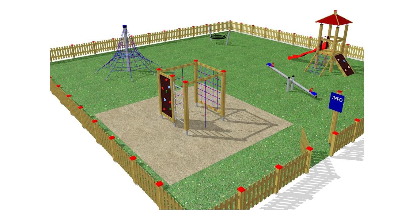 Vizualizace a návrh dětského hřiště